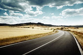 Asphalt road in Tuscany Italy — Stockfoto