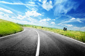 Route goudronnée en toscane italie — Photo