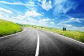 Asphalt road in Tuscany Italy — Stock Photo