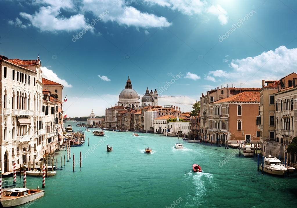 Grand Canal and Basilica Santa Maria della Salute, Venice, Italy  — Stock Photo #12698630