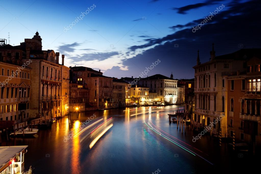 Grand Canal in Venice, Italy in sunset time — Stock Photo #12699011