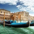 Stock Photo: Gondolas in Venice, Italy.