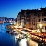 grande canal de Veneza, Itália, ao pôr do sol — Foto Stock