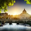 Stock Photo: View on Tiber and St Peter Basilica