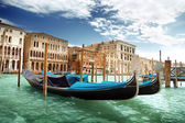 Gondolas in Venice, Italy. — Photo