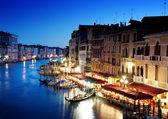 Gran canal de venecia, italia al atardecer — Foto de Stock