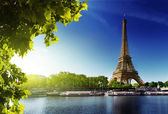 Seine in parijs met de toren van eiffel — Stockfoto