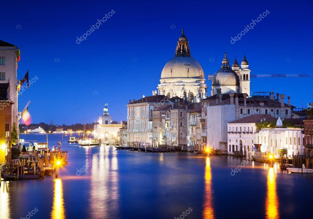 Grand Canal and Basilica Santa Maria della Salute, Venice, Italy  — Stock Photo #12888364