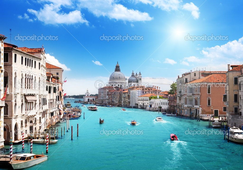 Grand Canal and Basilica Santa Maria della Salute, Venice, Italy  — Stock Photo #12888379