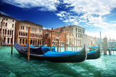 Gondolas in Venice, Italy. — Stock Photo