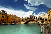 Rialto bridge in Venice, Italy — Photo