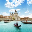 Stock Photo: Grand Canal and BasilicSantMaridellSalute, Venice, Italy