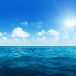 Perfect sky and water of indian ocean — Stock Photo #14534069