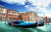Gondolas in Venice, Italy. — Stock Photo