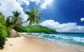 Beach at Mahe island, Seychelles — Stock Photo