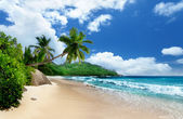 Beach at Mahe island, Seychelles — Stock Photo