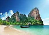 Playa de railay en krabi tailandia — Foto de Stock