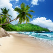 Stock Photo: Beach at Mahe island, Seychelles