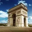 Stock Photo: Arc de Triomph Paris, France