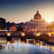 View on Tiber and St Peter Basilica in Vatican — Stock Photo #16970525
