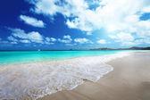Beach at Praslin island, Seychelles — Stock Photo