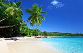 Playa de anse lazio en la isla de praslin, seychelles — Foto de Stock