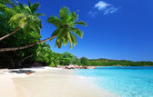 Anse Lazio beach at Praslin island, Seychelles — Stock Photo