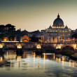 View on Tiber and St Peter Basilica in Vatican — Stock Photo #18391925