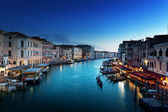 Grand Canal in sunset time, Venice, Italy — Stock Photo