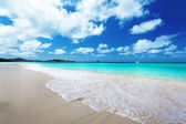 Beach at Praslin island, Seychelles — Stock Photo