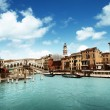 Rialto bridge in Venice, Italy - Stock Photo