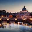 View on Tiber and St Peter Basilica in Vatican — Stock Photo #18927831