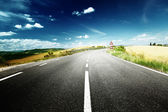 Asphalt road in Tuscany Italy — Stock Photo