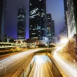 Stock Photo: Traffic in Hong Kong at night