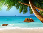 Playa de anse lazio en la isla de praslin en seychelles — Foto de Stock
