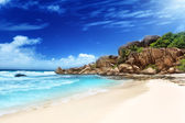 Grande anse beach, La Digue island, Seychelles — Stock Photo