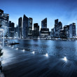 Stock Photo: Singapore city in sunset time