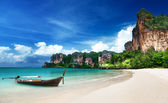 Railay beach i krabi thailand — Stockfoto