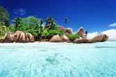 Anse Source d'Argent beach, La Digue island, Seyshelles — Stock fotografie