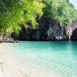 Beach of small island in Adaman sea, Krabi Province, Thailand - Stock Photo