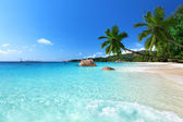 Anse lazio plaży na wyspie praslin, seszele — Zdjęcie stockowe