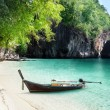 Boat on beach of island in Krabi Province, Thailand — Stock Photo #21258531