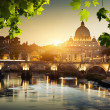 View on Tiber and St Peter Basilica in Vatican — Stock Photo #21258583
