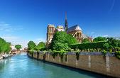 Paris notre dame, francia — Foto de Stock