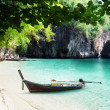 Royalty-Free Stock Photo: Boat on beach of island in Krabi Province, Thailand