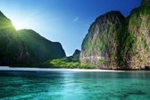 Morning time at Maya bay, Phi Phi Leh island,Thailand — Stock Photo