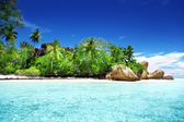 Anse Source d'Argent beach, La Digue island, Seychelles — Stock Photo