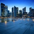 Singapore city in sunset time — Stock Photo #23567107