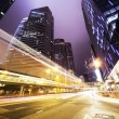 Traffic in Hong Kong at night — Stock Photo #23567115