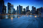 Singapore city in sunset time — Foto de Stock